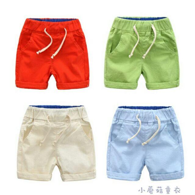 小蘑菇童衣[部份 ]超 中性棉麻休閒透氣五分褲