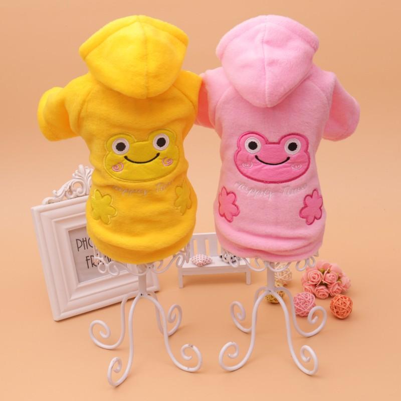 寵物可愛青蛙連帽罩衫貓狗衣服比熊博美貴賓吉娃娃雪納瑞