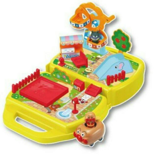 ~ . ~~歡樂屋麵包超人~手提場景、公園遊戲場、手提玩具(附小車)