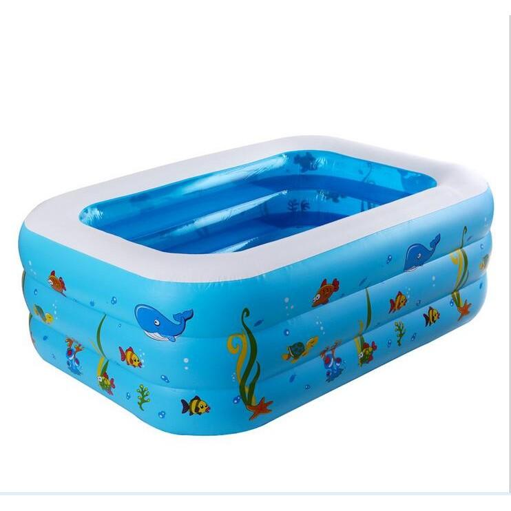 兒童水池充氣泳池嬰兒遊泳池寶寶水池遊樂場用遊泳池三層方形水池