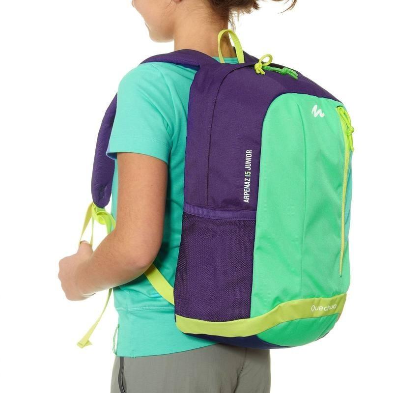 兒童5L 背包Quechua 雙肩包後背包小背包15L 中型學校書包男童女童