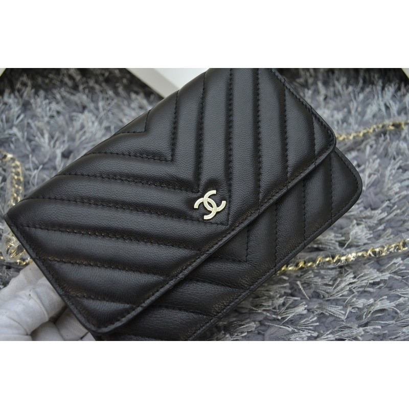 Chanel WOC 荔枝紋鏈條肩背包chanel 手拿包晚宴包小羊皮潮流菱格斜挎包側背包