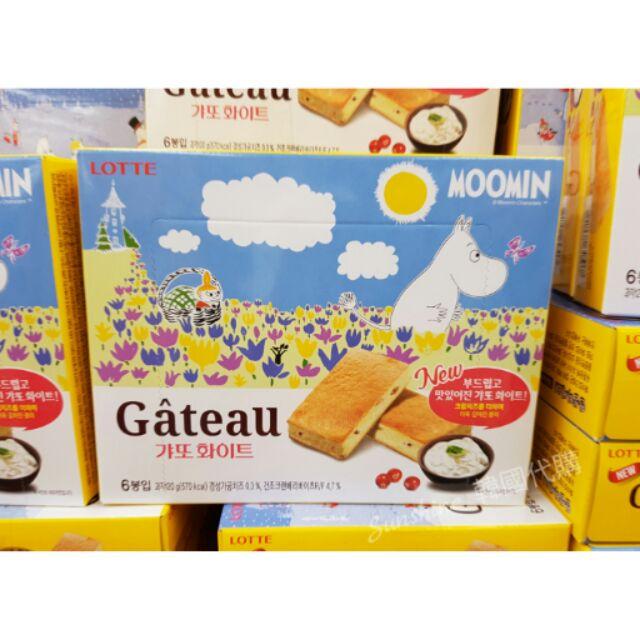 韓國空運LOTTE 樂天MOOMIN 嚕嚕米法式小蛋糕蔓越莓奶油6 入盒