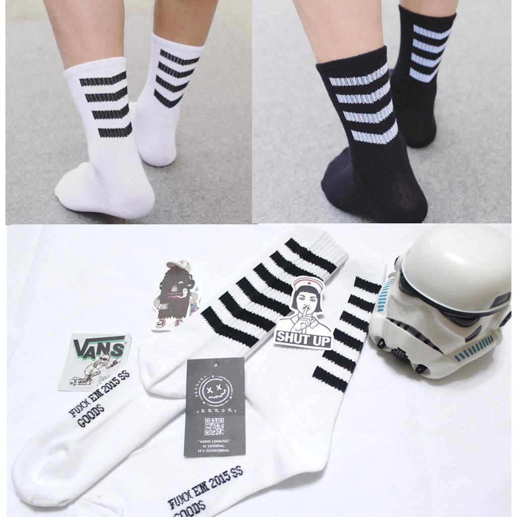 好帥條紋襪條紋襪子 款長襪滑板襪 襪素面襪