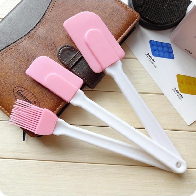矽膠刮刀刷子三件組