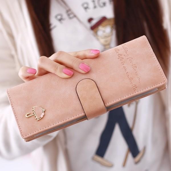韓國 雨傘大卡包女式多卡位信用卡套卡夾卡片包長款可愛大容量