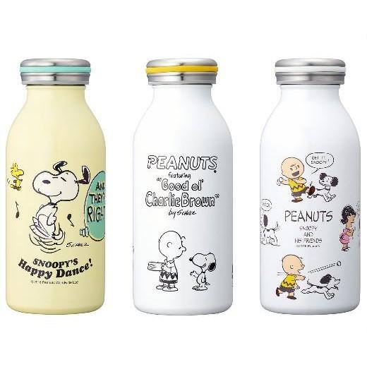 ~ 可扣蝦幣~ 限定SNOOPY 史努比懷舊牛奶瓶真空二重不鏽鋼保冷保溫瓶350ml 三款