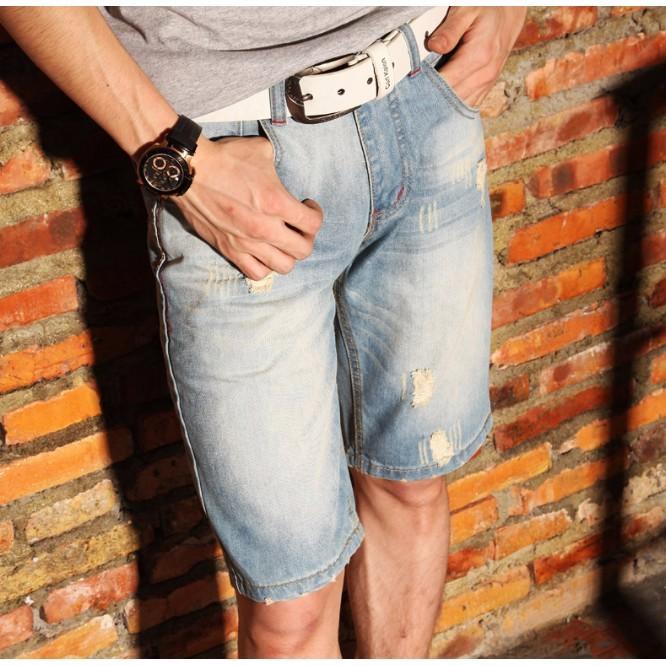 超多款式 款男生牛仔短褲帥氣指數報表休閒褲牛仔破褲男生衣著五分褲牛仔短褲破洞 男褲牛仔褲