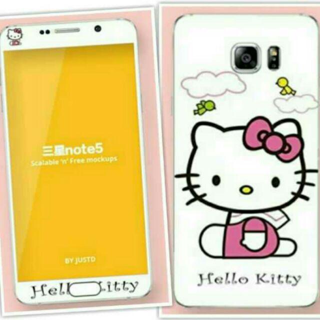 三星Samsung galaxy note5 骷髏款Hello kitty 款手機鋼化膜玻
