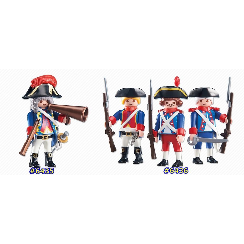摩比Playmobil 6435 6436 法國皇家衛隊隊長士兵袋裝