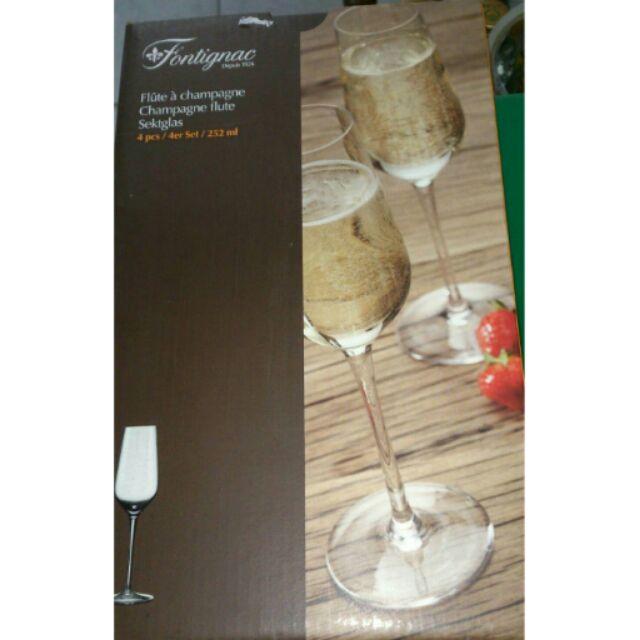德國Fontignac 無鉛水晶香檳杯