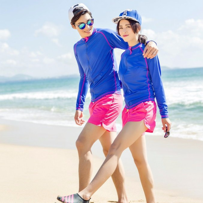 海邊度假速乾沙灘褲情侶糖果色休閒 短褲三分褲