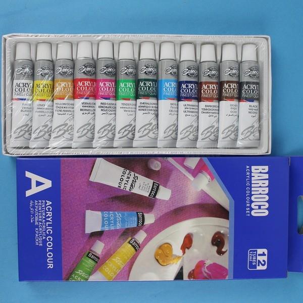 BARROCO 12 色壓克力顏料EA1212C 丙烯顏料~一盒入~定150 5944