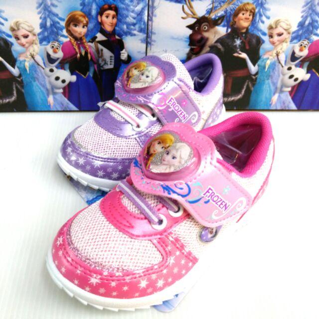 FROZEN 冰雪奇緣公主電燈 鞋止滑底透氣抗菌防臭魔鬼氈易穿脫