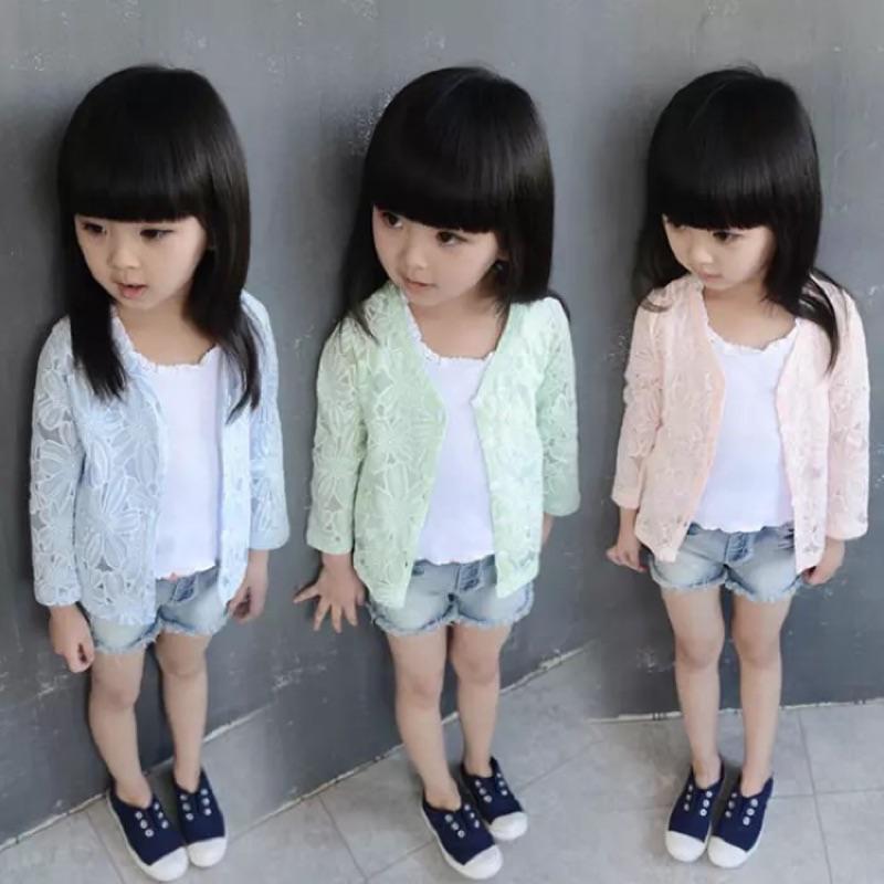 [ ]小花朵兒長袖女童薄外套防曬外套寶寶兒童棉質秋裝小外套❤️