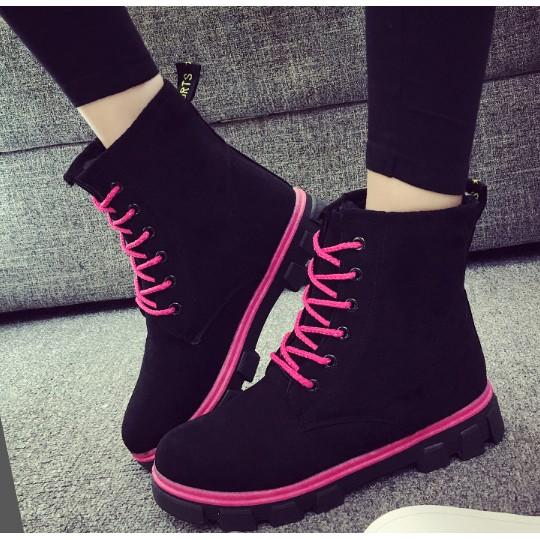 2016 馬靴短靴加绒加厚學生棉鞋平底雪地靴子女鞋