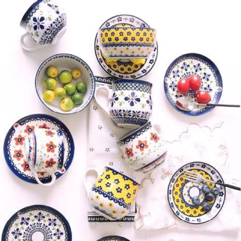製波蘭系列咖啡杯碟組波蘭下午茶花朵