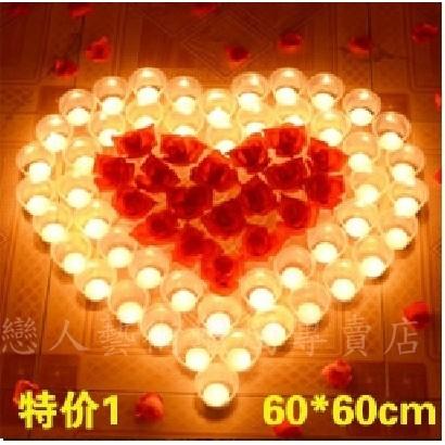 ~排字活動婚禮求婚情人節~愛心防風蠟燭套餐㊣買就送玫瑰花瓣㊣