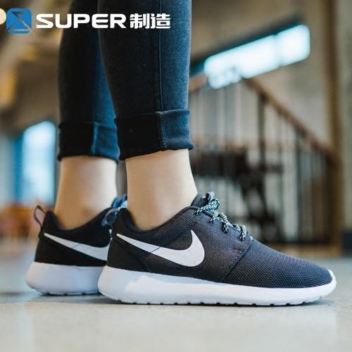 NIKE 女鞋耐吉男鞋網布透氣慢跑鞋黑白輕便百搭潮流 鞋倫敦休閒鞋跑步鞋學生情侶鞋