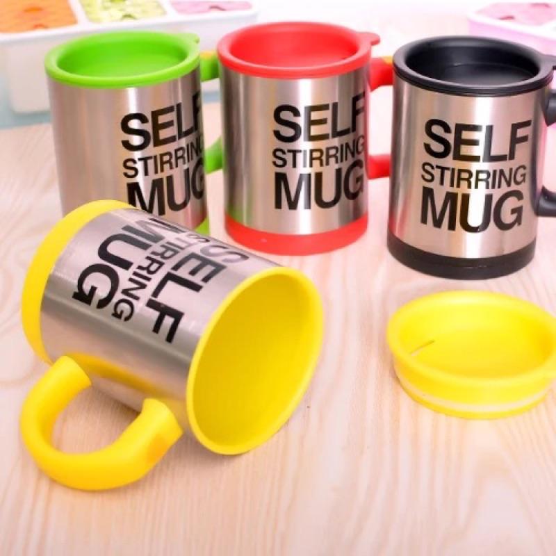 黑3 、黃、紅各ㄧ,其餘 (304 不鏽鋼自動攪拌杯咖啡牛奶飲料電動杯 懶人泡咖啡馬克杯