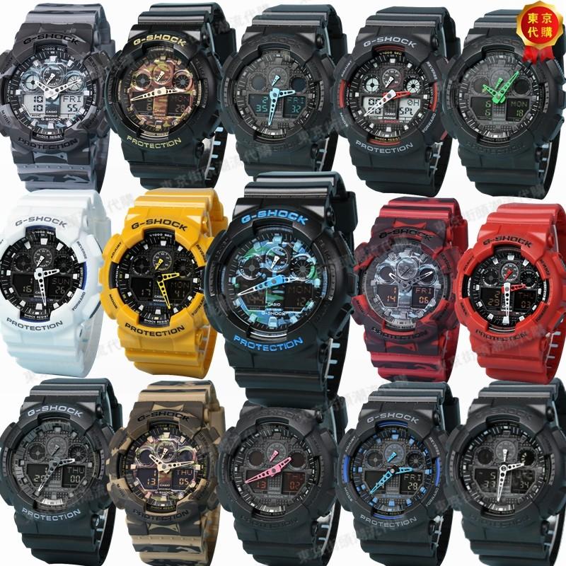 東京 CASIO 卡西歐G SHOCK GA 100 1A4 粗獷風格黑色 電子手錶三眼雙