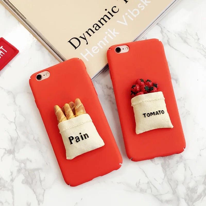 可愛立體食物蕃茄麵包手機殼iphone7 7plus iphone6 6plus 6s 6