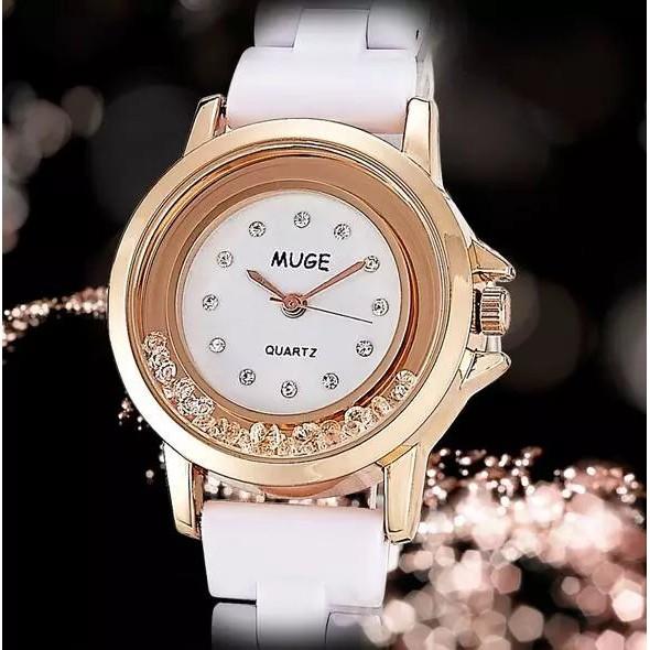 外貿爆款鑲鑽手錶女子陶瓷玫瑰金合金女錶