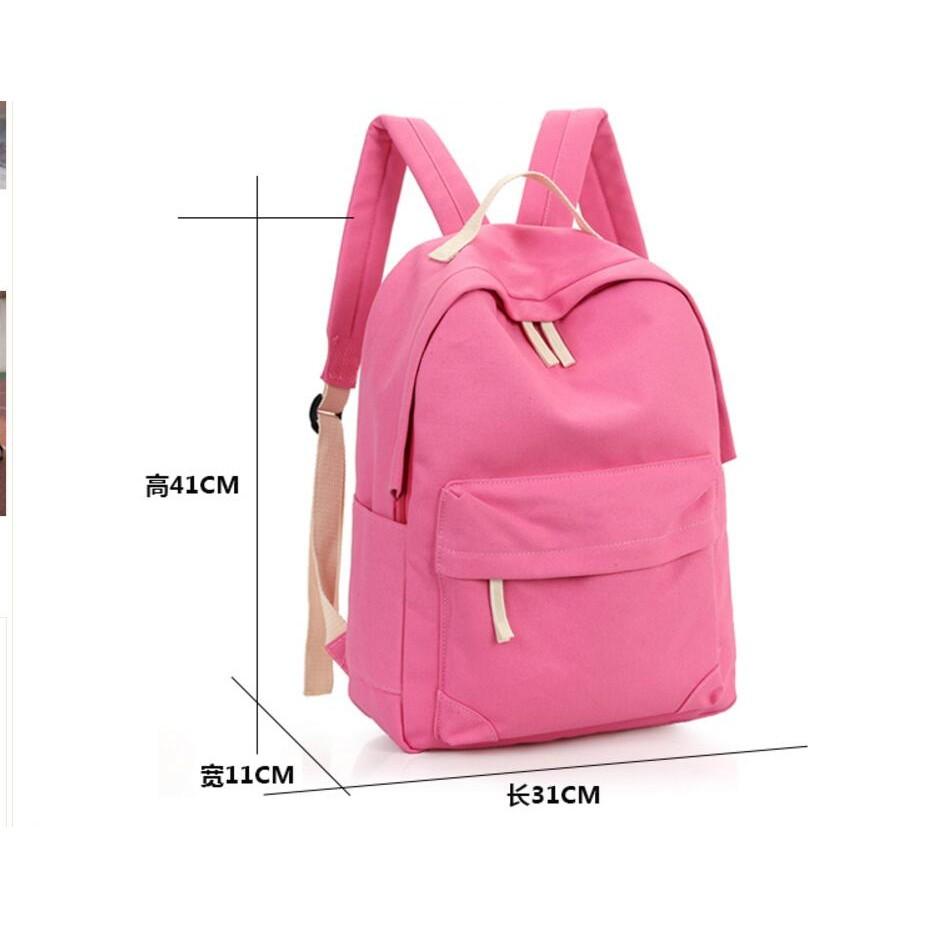 雙肩包女 帆布書包高中學生女大容量學院風純色簡約電腦背包潮背包雙肩包化妝包小包肩背包側背包