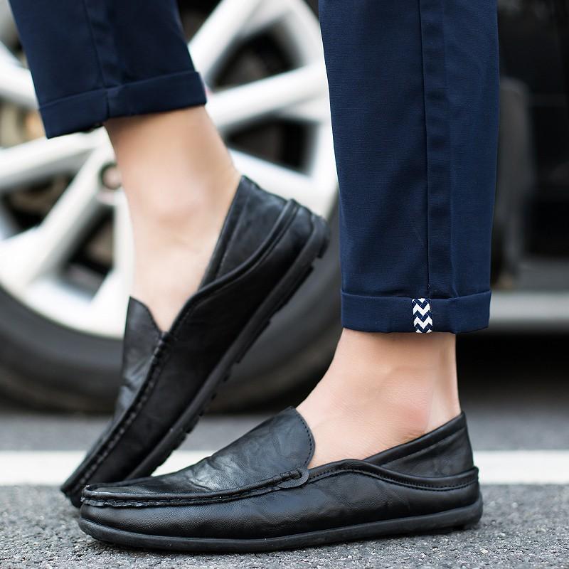 男皮鞋懶人鞋休閒鞋 鞋英倫鞋皮鞋球休閒鞋子休閒皮鞋 鞋子 皮鞋2016 春 男士 鞋黑白色