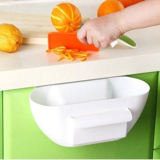 My Color ~S19 ~廚房垃圾收納盒 廚房垃圾果皮菜葉收納盒櫥櫃門掛式儲物盒桌面塑