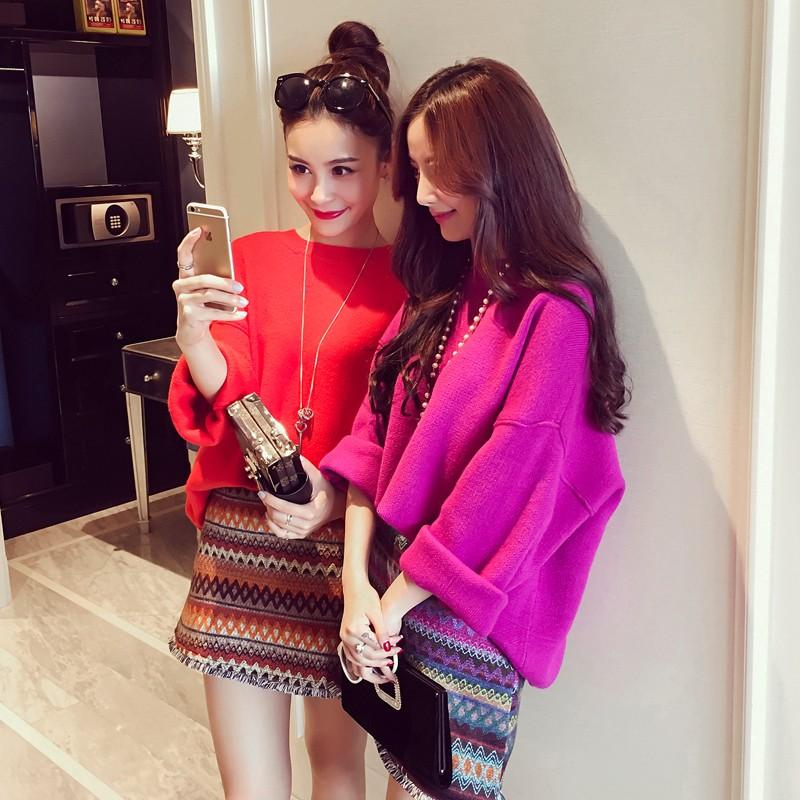 珍藏款~絕美氣質名媛兩件套條紋窄裙毛衣長袖洋裝韓國空運✈Hanagirl