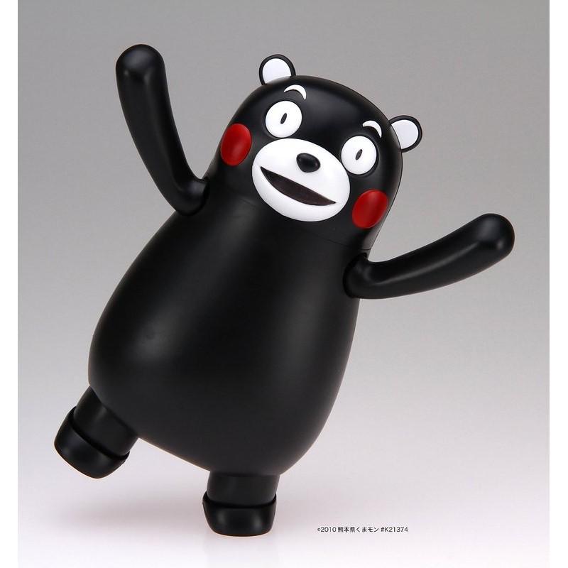 ~W 先生~富士美日版熊本熊KUMAMON 全彩色免膠水組裝可動模型