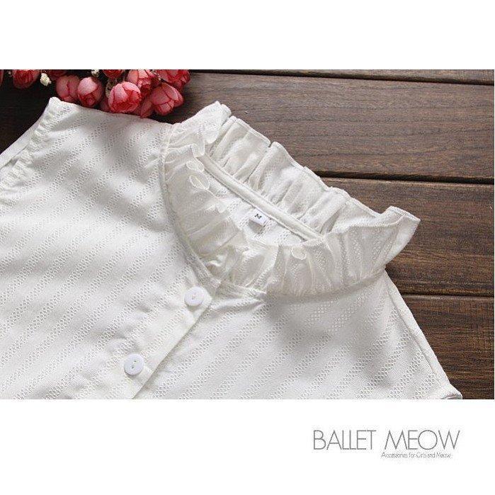 貓咪跳芭蕾 .典樸棉麻小立領假領子襯衫毛衣針織衫內搭~BC03671 ~ .單色