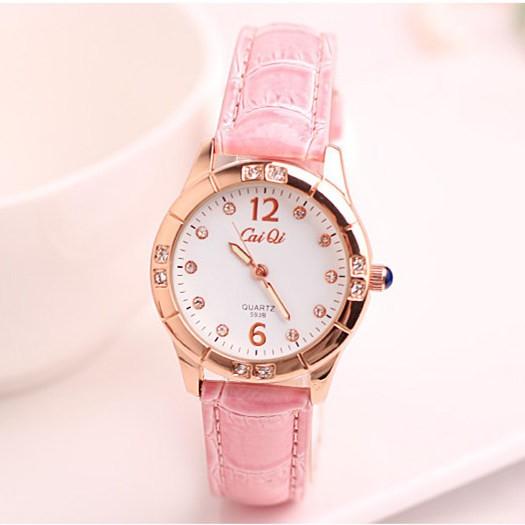 夜光 女錶皮帶 可愛學生防水鉆手錶女時裝錶正品牌女士手錶