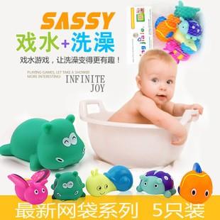 嬰兒玩具兒童洗澡玩具洗澡鴨子小黃鴨寶寶洗澡玩具戲水鴨子