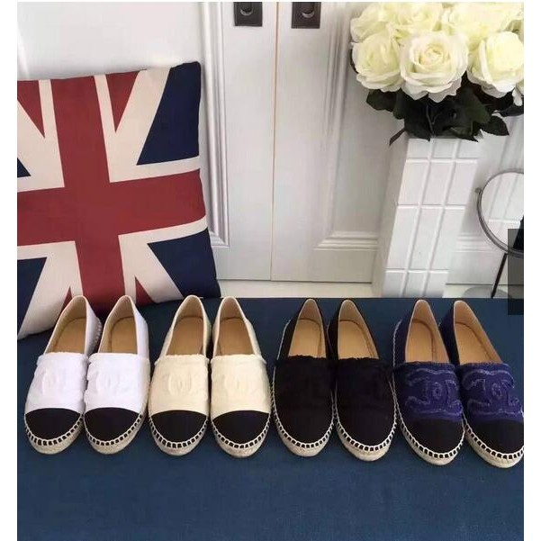 Chanel Espadrilles 款香奈兒 草編厚底漁夫鞋帆布鞋懶人鞋鉛筆鞋