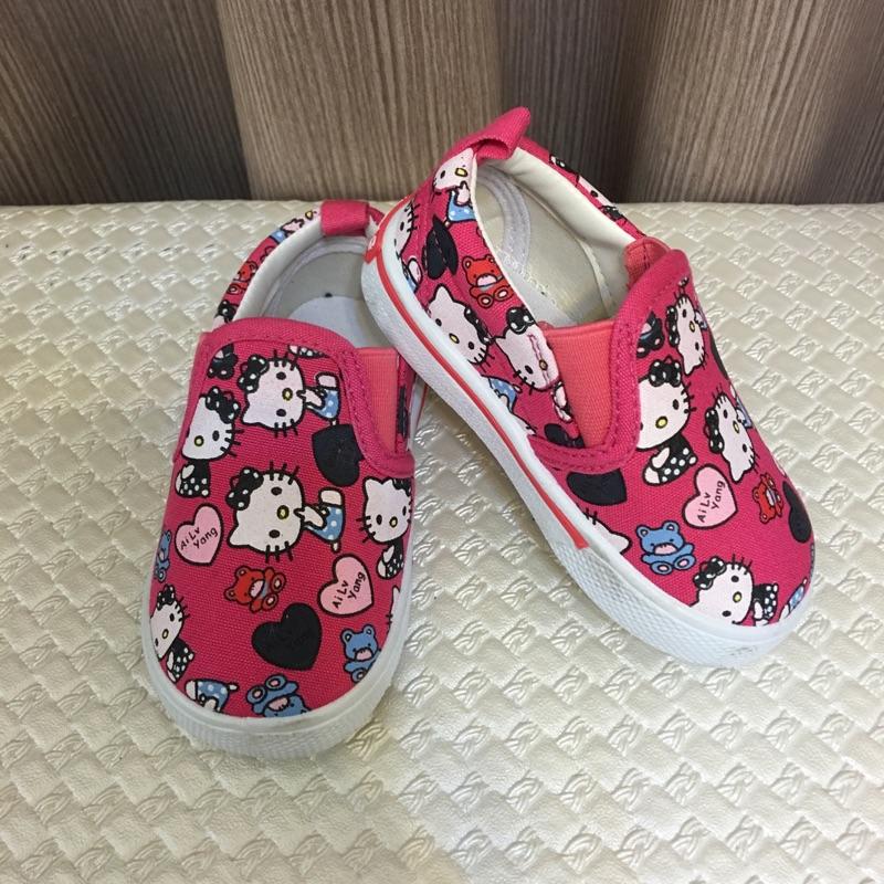 桃紅色貓咪休閒鞋