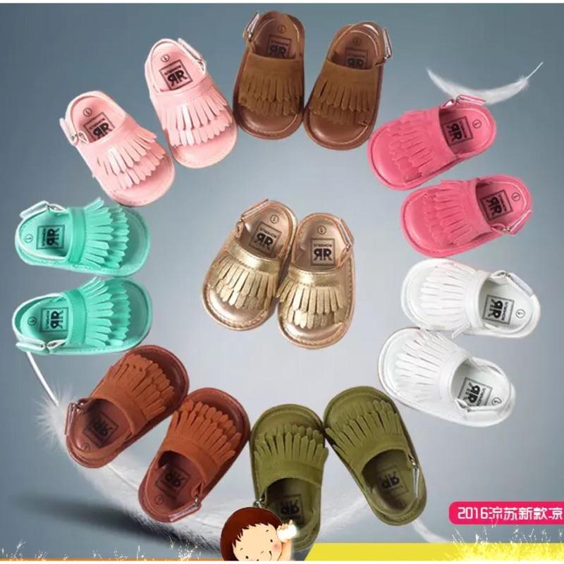 嬰幼兒寶寶流蘇涼鞋軟底防滑膠底嬰兒學步涼鞋公主鞋波西米亞風多色
