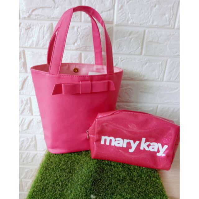 Mary Kay 粉紅手提包化妝包