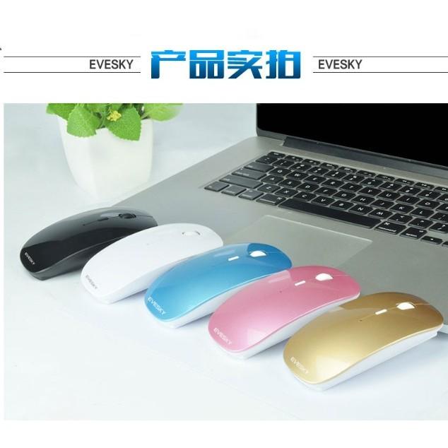 2016 款EVESKY 2 4GHz 光電安卓電腦用充電滑鼠,無線滑鼠,靜音滑鼠,無聲滑