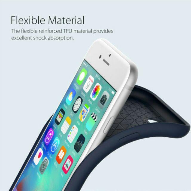 金柚正韓Araree iPhone7 i7 Plus 素色皮紋矽膠軟殼手機殼KY 0353