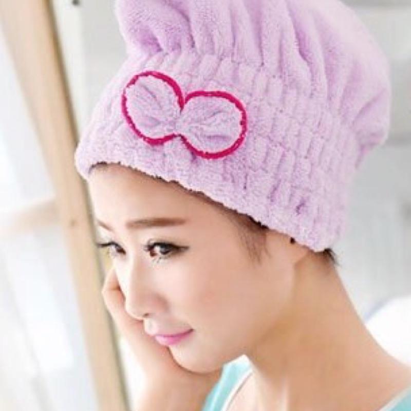 雙面加厚超強吸水蝴蝶結乾髮帽