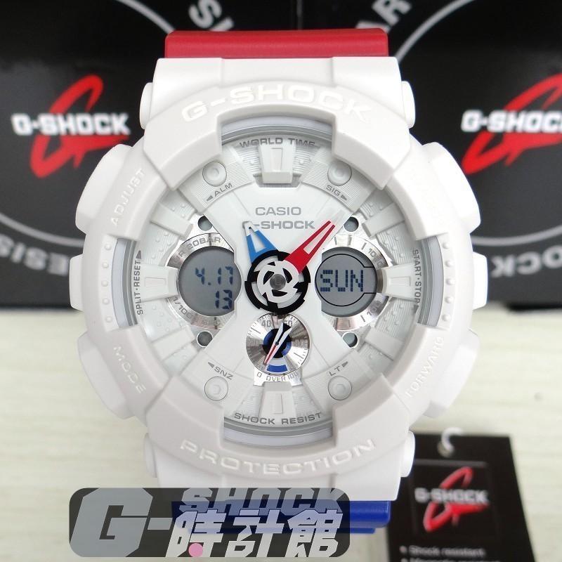 CASIO G SHOCK GA 120 系列GA 120TRM 7A 白紅X 藍錶帶