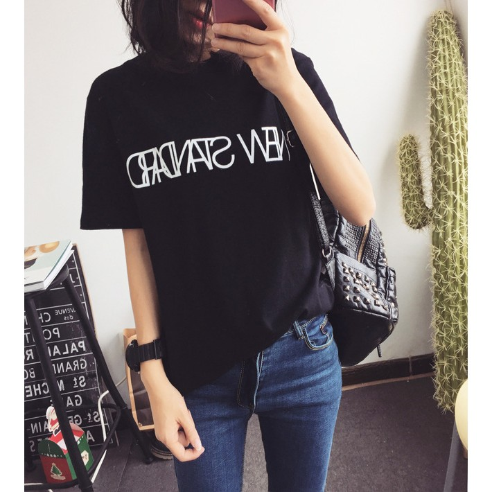 ❤RainMom Shop ❤~A0008 ~2017 寬鬆T 恤大學T 春  款大 半袖