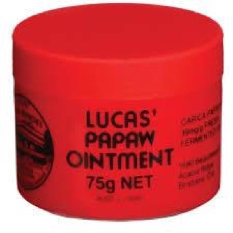 澳洲購回Lucas Papaw Ointment 澳洲木瓜霜護唇膏75 g 正品燒燙傷過敏