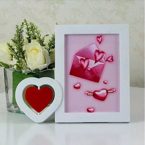 ~Wedhappy 婚禮小物佈置~旋轉愛心Love 婚紗桌上型相框立框