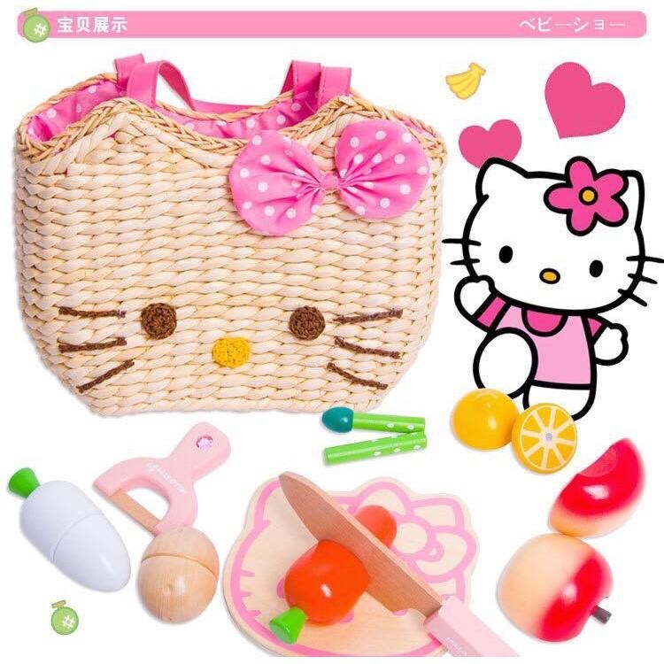 超棒 切切看Hello Kitty 玩具HelloKitty 貓生日 蔬菜玩具辦家家酒玩具