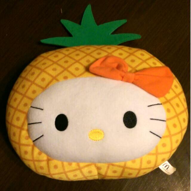降價囉 Hello Kitty 鳳梨抱枕麥當勞限定水果系列