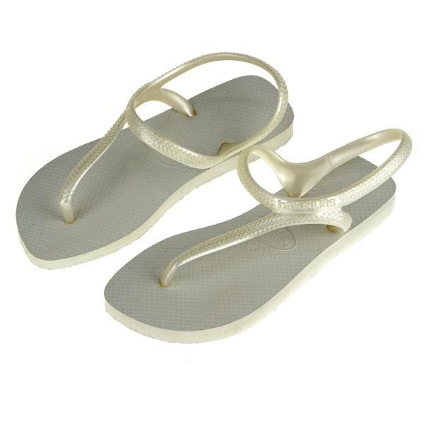 破盤價Havaianas 哈瓦仕細帶珠光巴西拖沙灘拖鞋女HF6F0039W1
