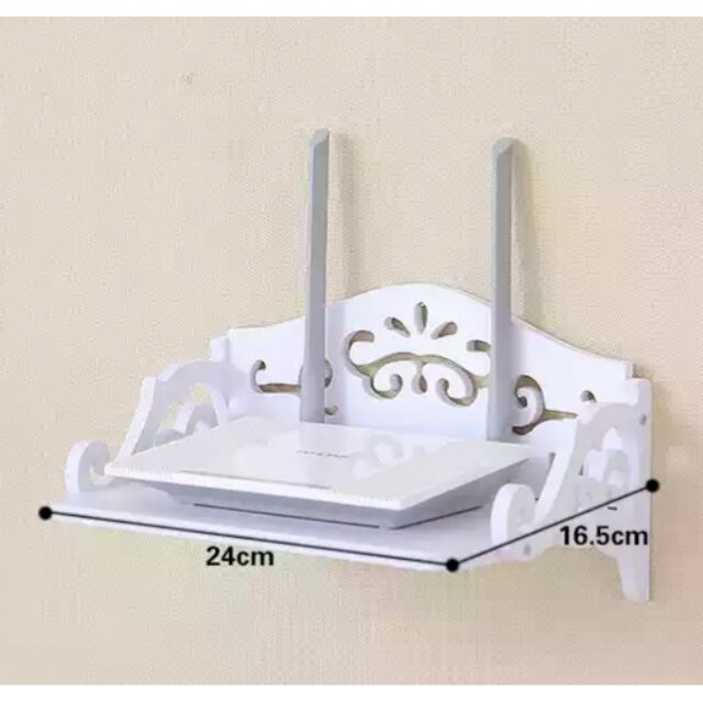 ♡ ♡小號白色簍空雕花電視機上盒DVD 數據機室內電話影音播放器錄放影機手機充 置物架收納